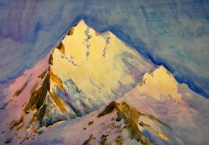 Akvarel V zahodyashem solnce Samotkina Mariya